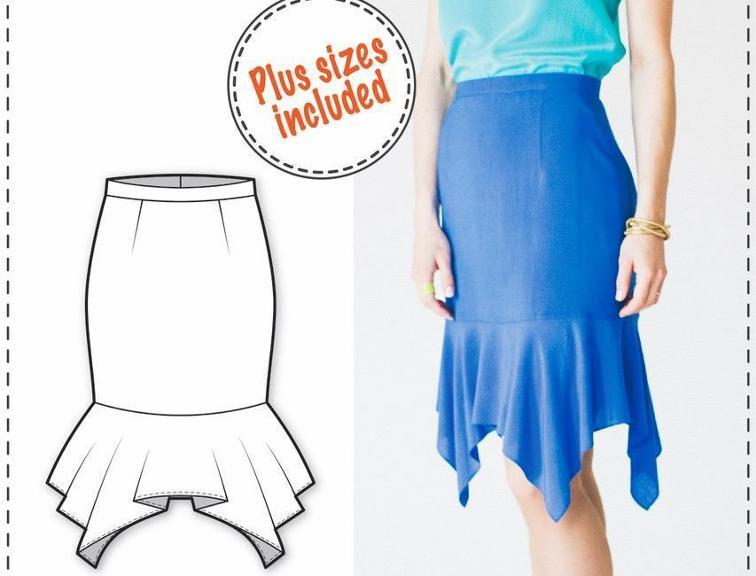 Flounce Skirt Sewing Pattern
