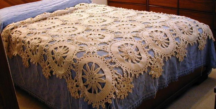 flower circles afghan crochet pattern