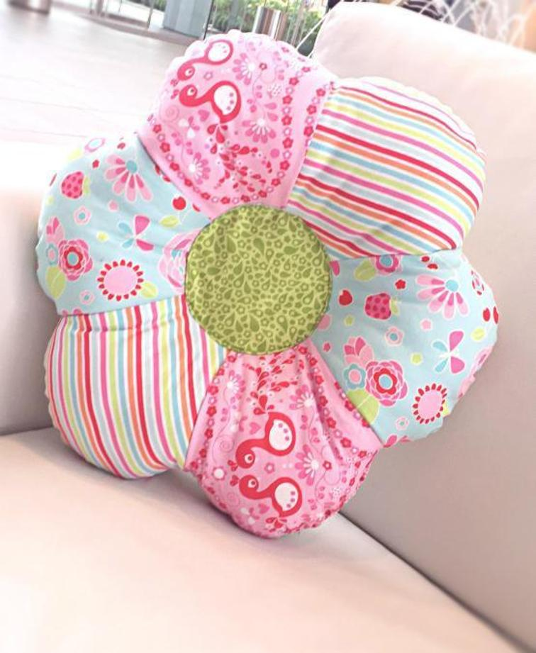 Flower Shaped Pillow Sewing Pattern