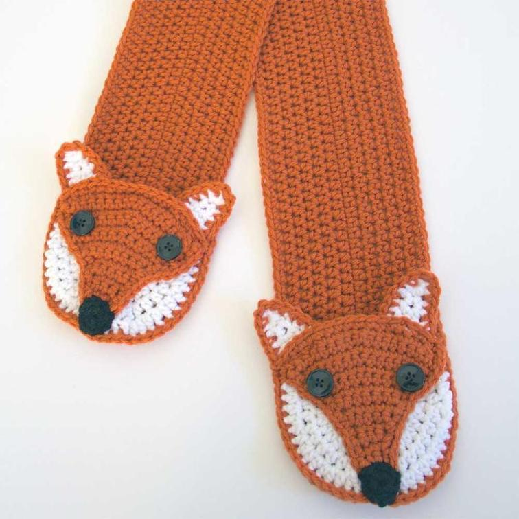 Fox Pocket Scarf Crochet Pattern