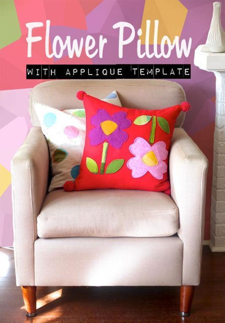 Giant Flower Pillow Applique