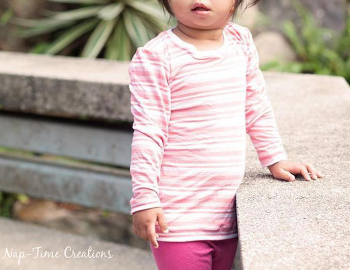 girls free tshirt long and short sleeve pattern by nap time creation