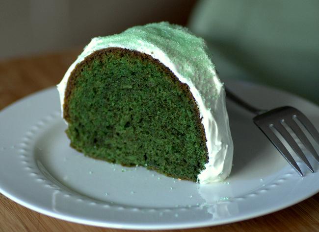 Make a Green Velvet Bundt Cake for St Patrick's Day
