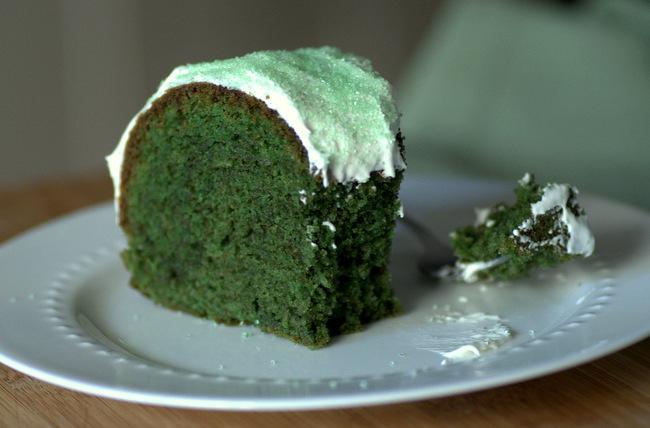 Make a Green Velvelt Bundt Cake for St Patrick's Day