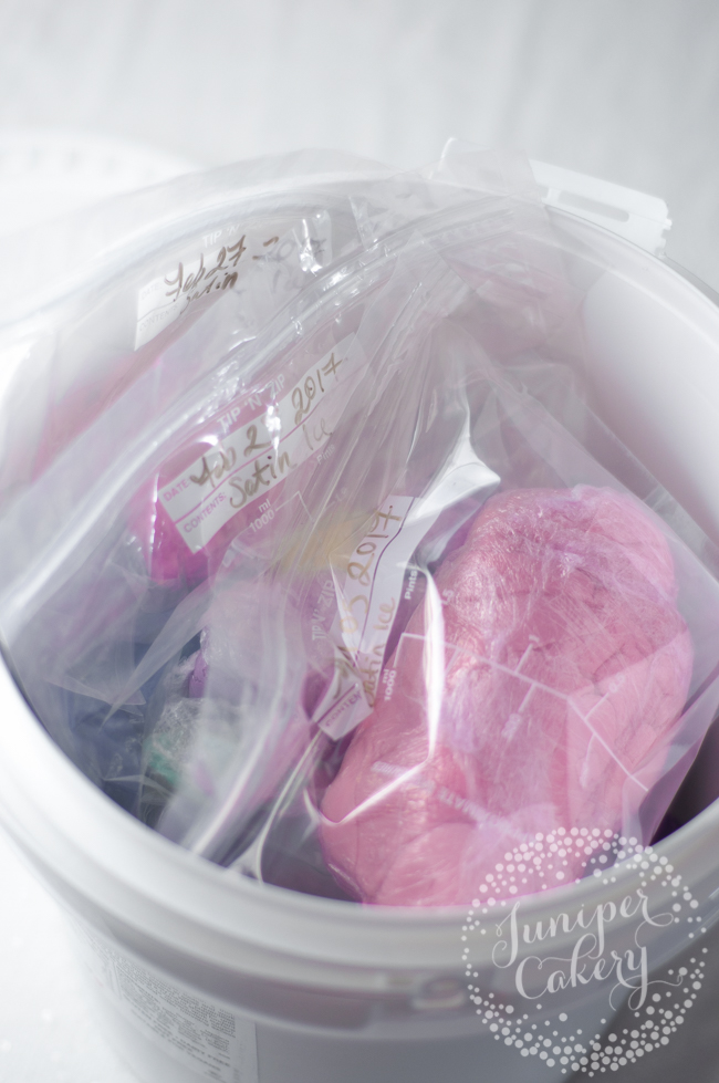 How to easily store and keep fondant scraps
