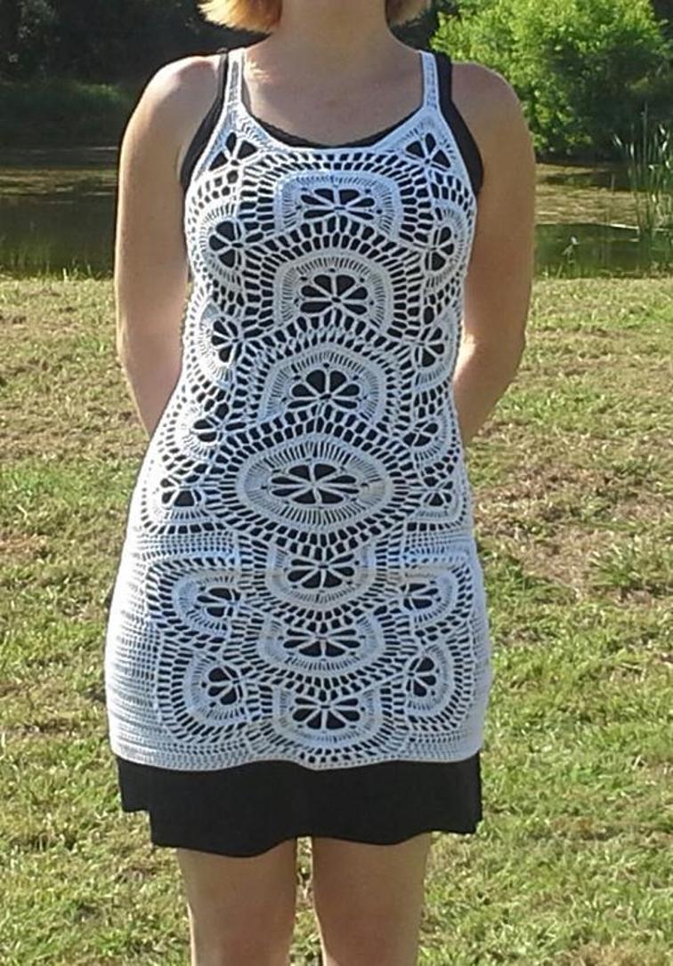 join as you go crochet dress