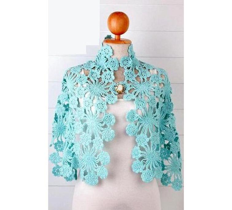 join as you go crochet shawl