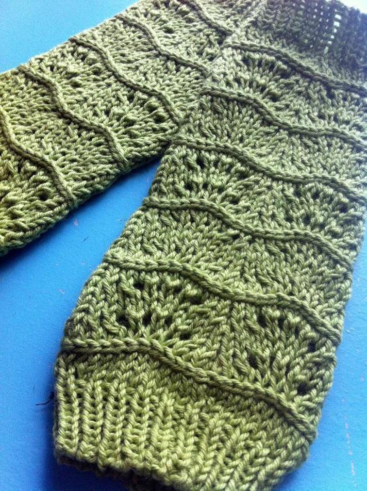 Lila's Knit Legwarmers
