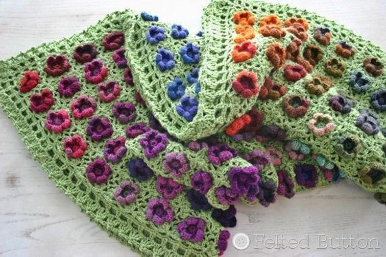 monet garden throw crochet blanket pattern