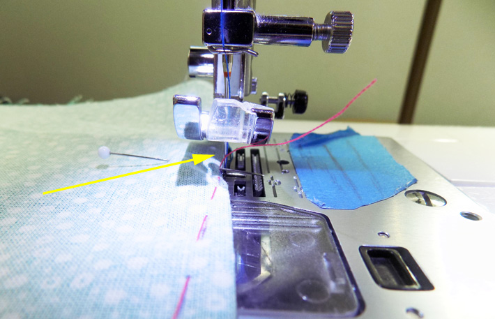 needle down dart sewing technique