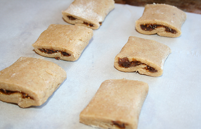 Fig newtons before baking