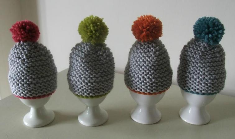 Pom Pom Egg Cosy Knitting Pattern