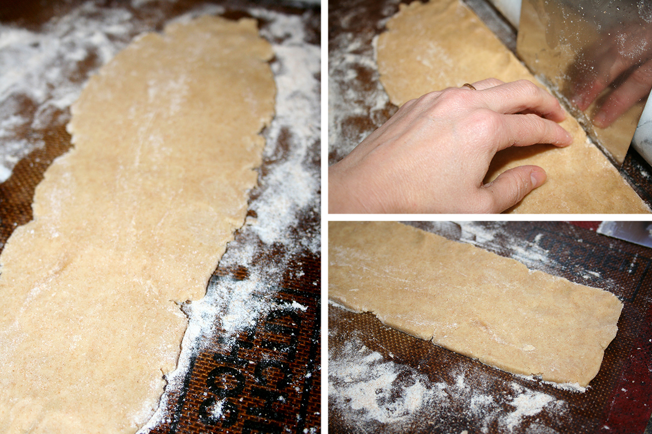 Roll the dough into a rectangle