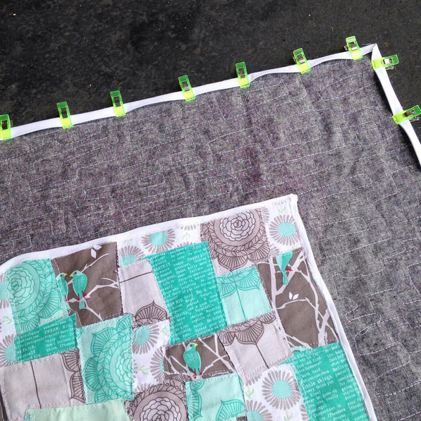 Adding White Binding to a Quilt