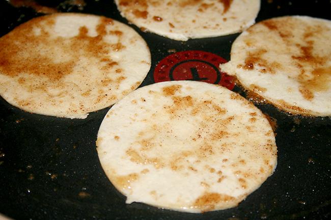Cinnamon Tortillas for Apple Pie Tacos