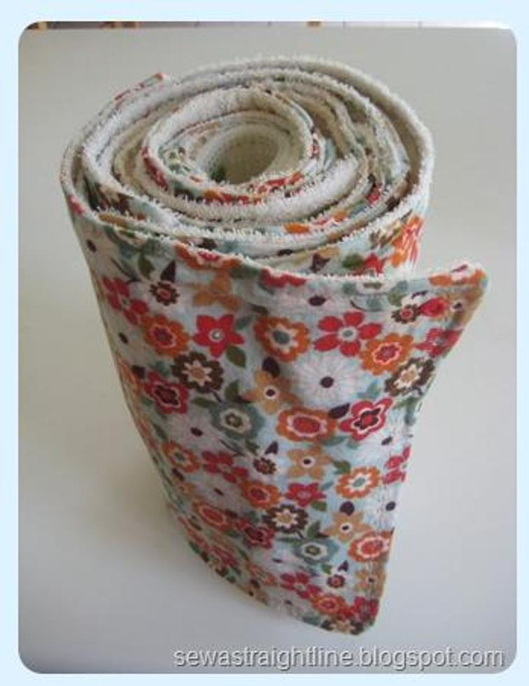Rolled Kitchen Towels Sewing Pattern