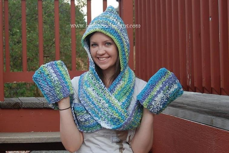 Scoodie Hooded Scarf Crochet Pattern