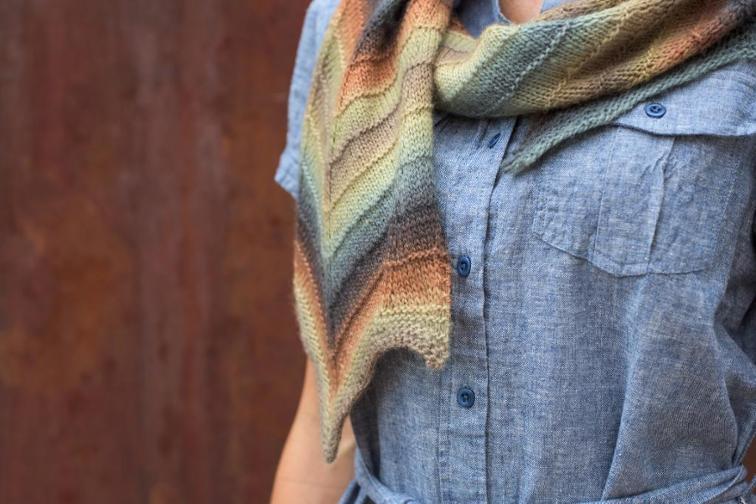 Shifting Chevron Knitting Pattern