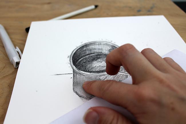 Blending Pencil Sketches
