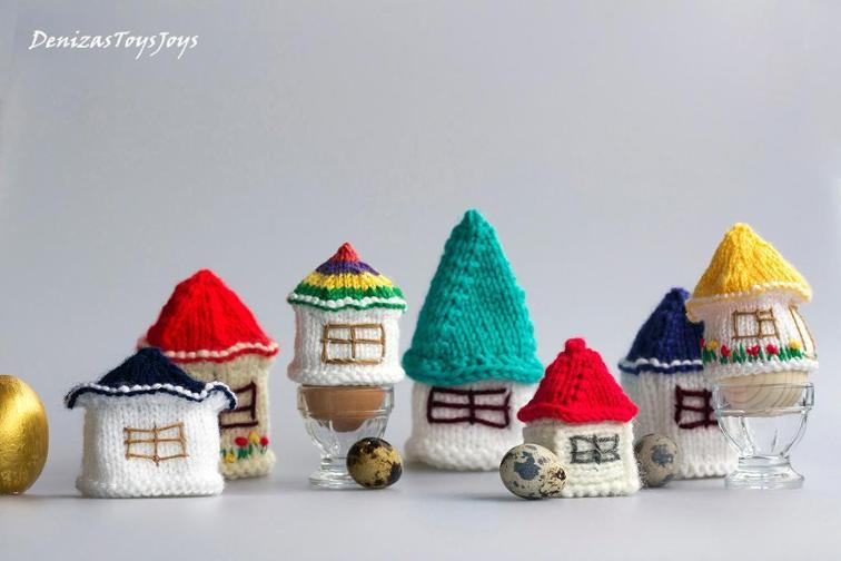 Small Houses for Easter Eggs