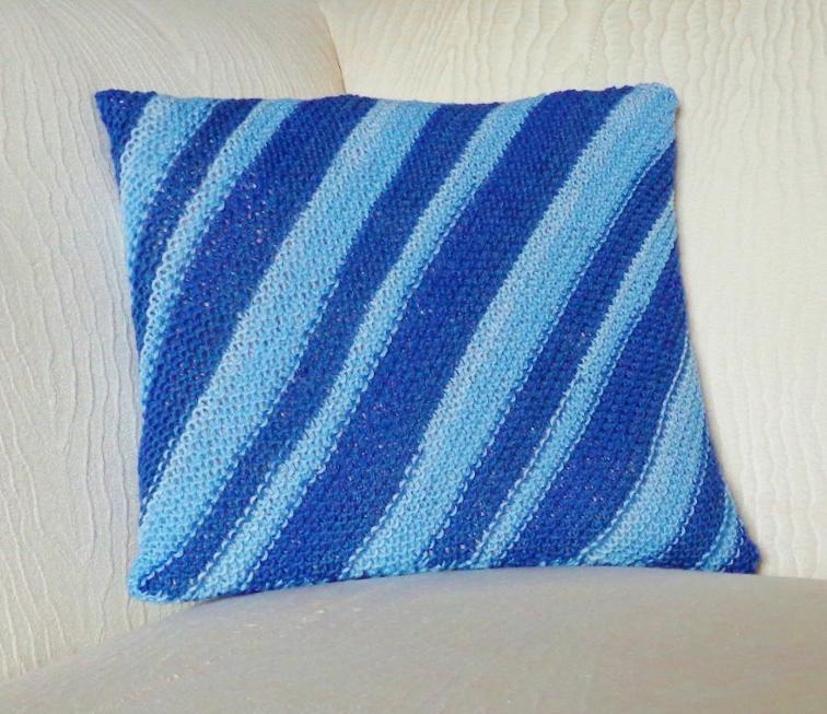 Stripes on the Bias Gift Wrap Knitting Pattern