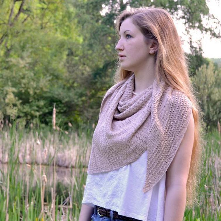 Thoreau's Assymetric Bias Shawl Knitting Pattern