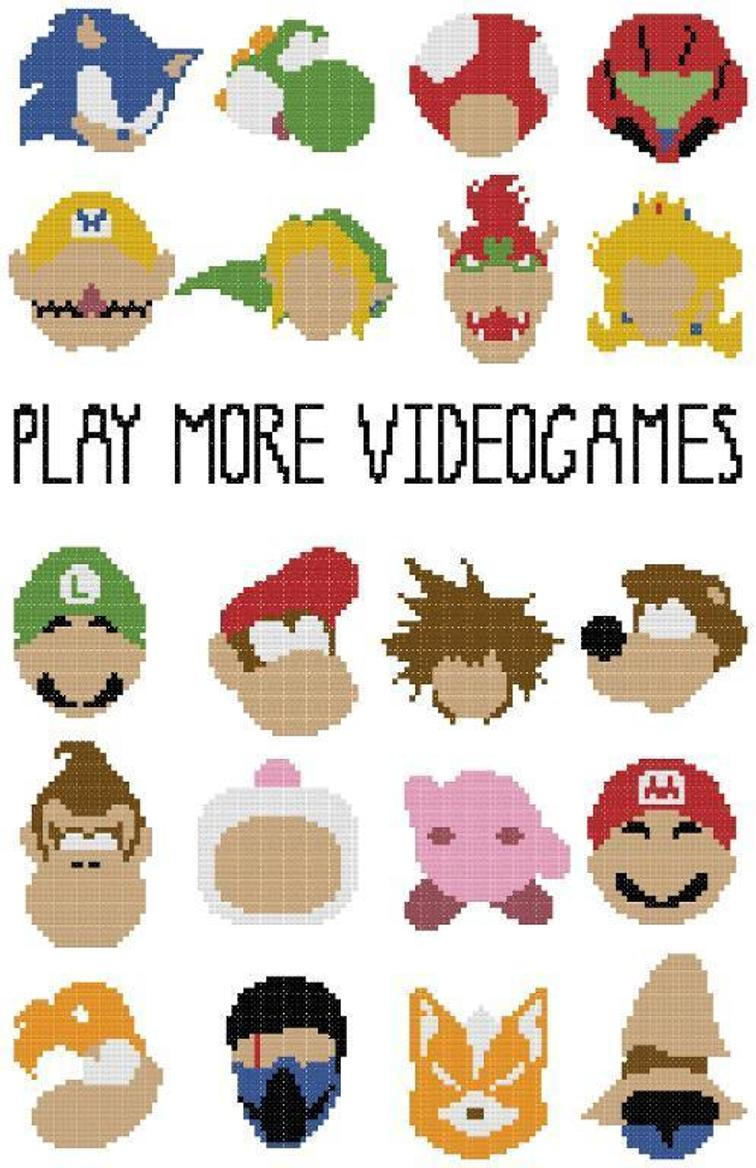 Video Game Cross Stitch