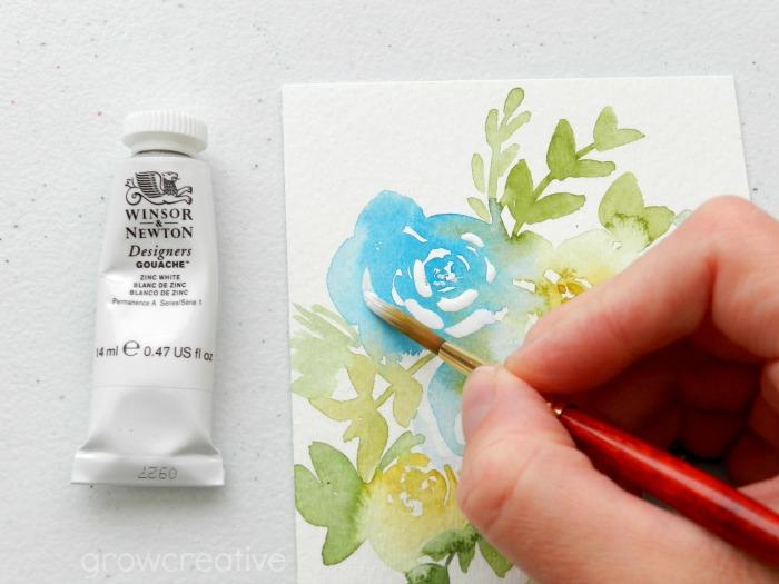 Gouache on Watercolor