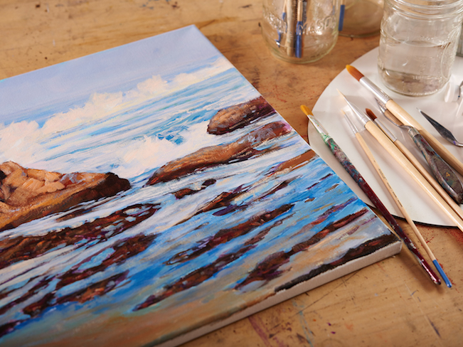 Canvas on Table