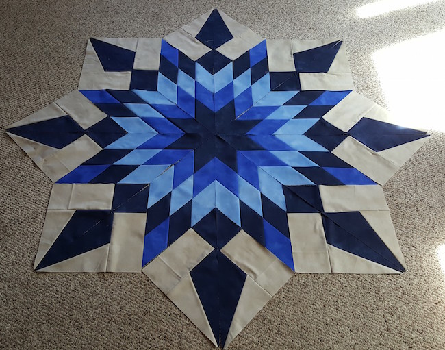 Center of Blazing Star Quilt