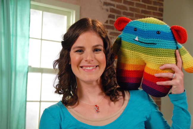 Stacey Trock and Rainbow Crochet MOnster