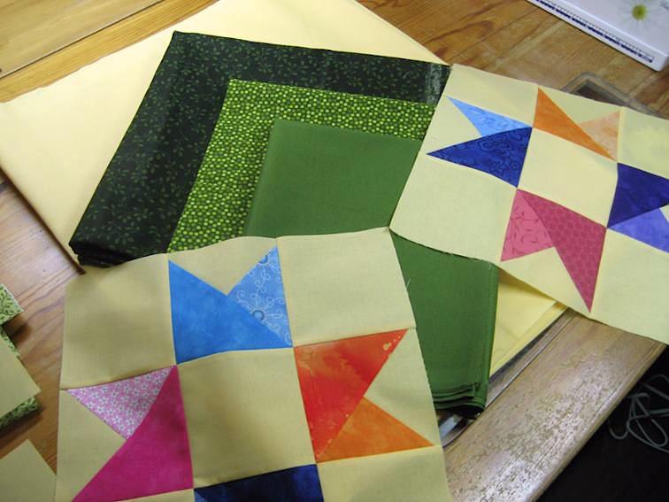 Blazing Star Made With Stash Fabric