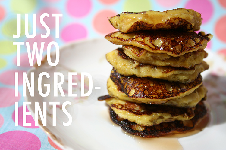 Two ingredient banana pancakes