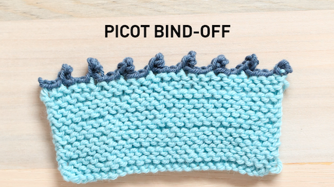 Picot Bind-Off Edge