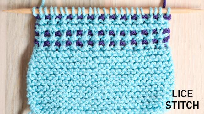 Lice Stitch Swatch