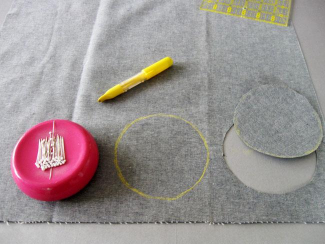 Step 2 cut two circles