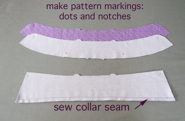 Step 2 sew long seam on collar