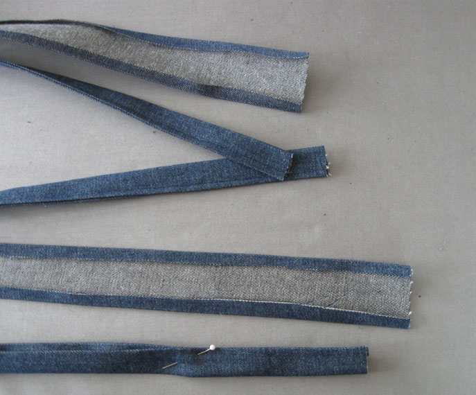 Step 4 press and sew straps
