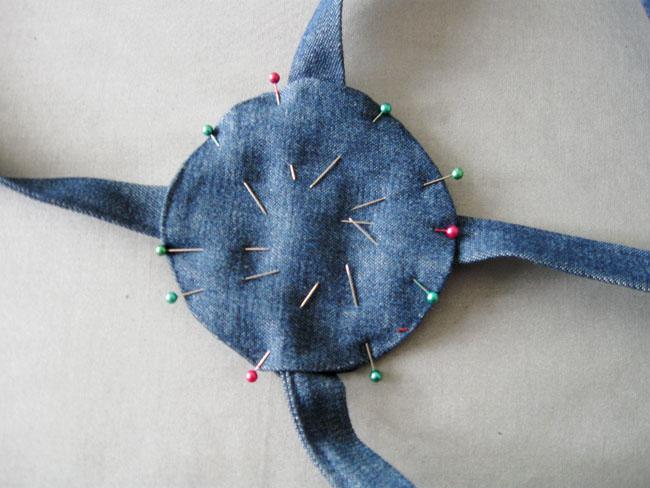 Step 6 sew 2nd circle