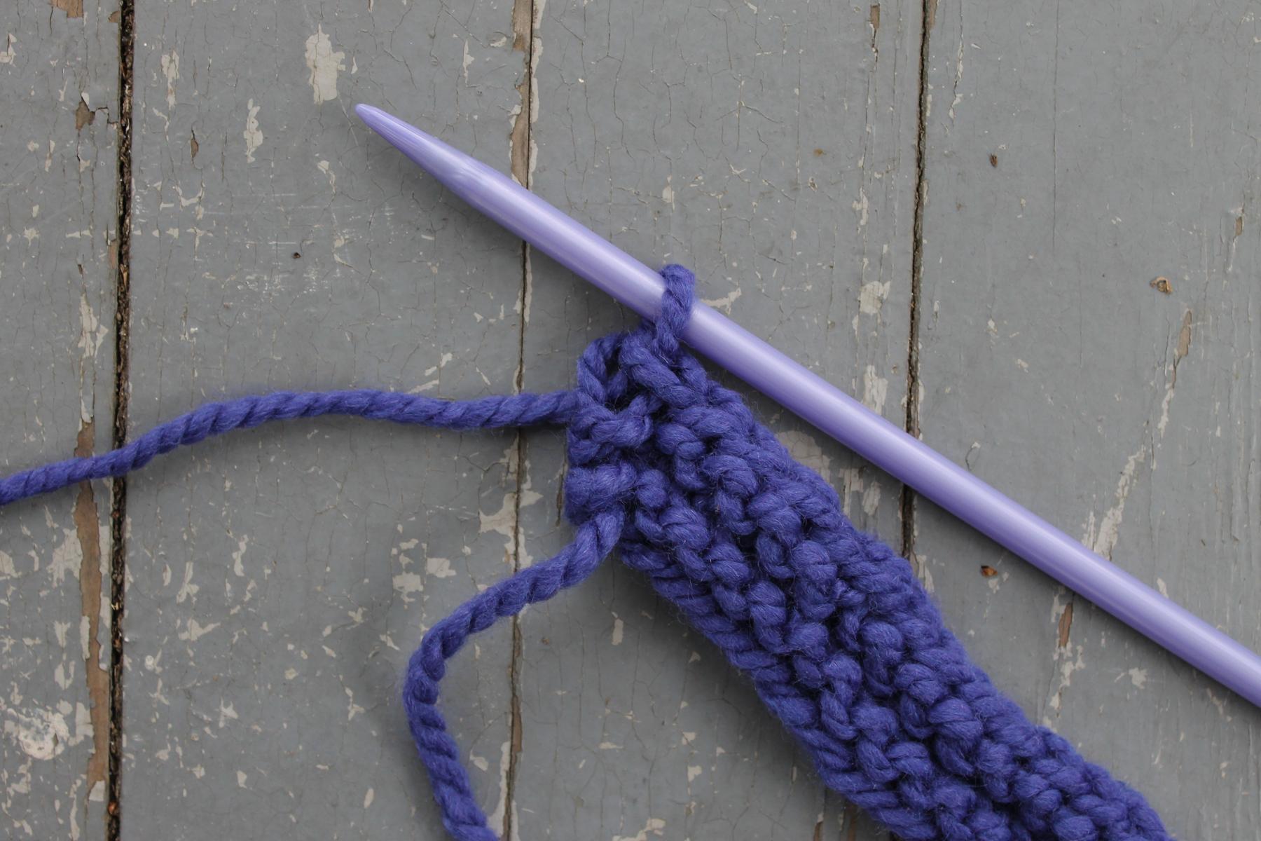 One Stitch Left on needle