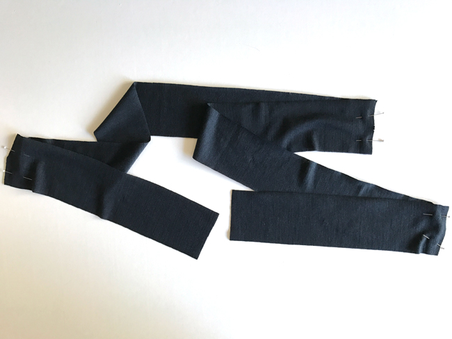 Strip of black fabric