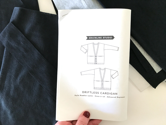 Cardigan Sewing Pattern and Fabric