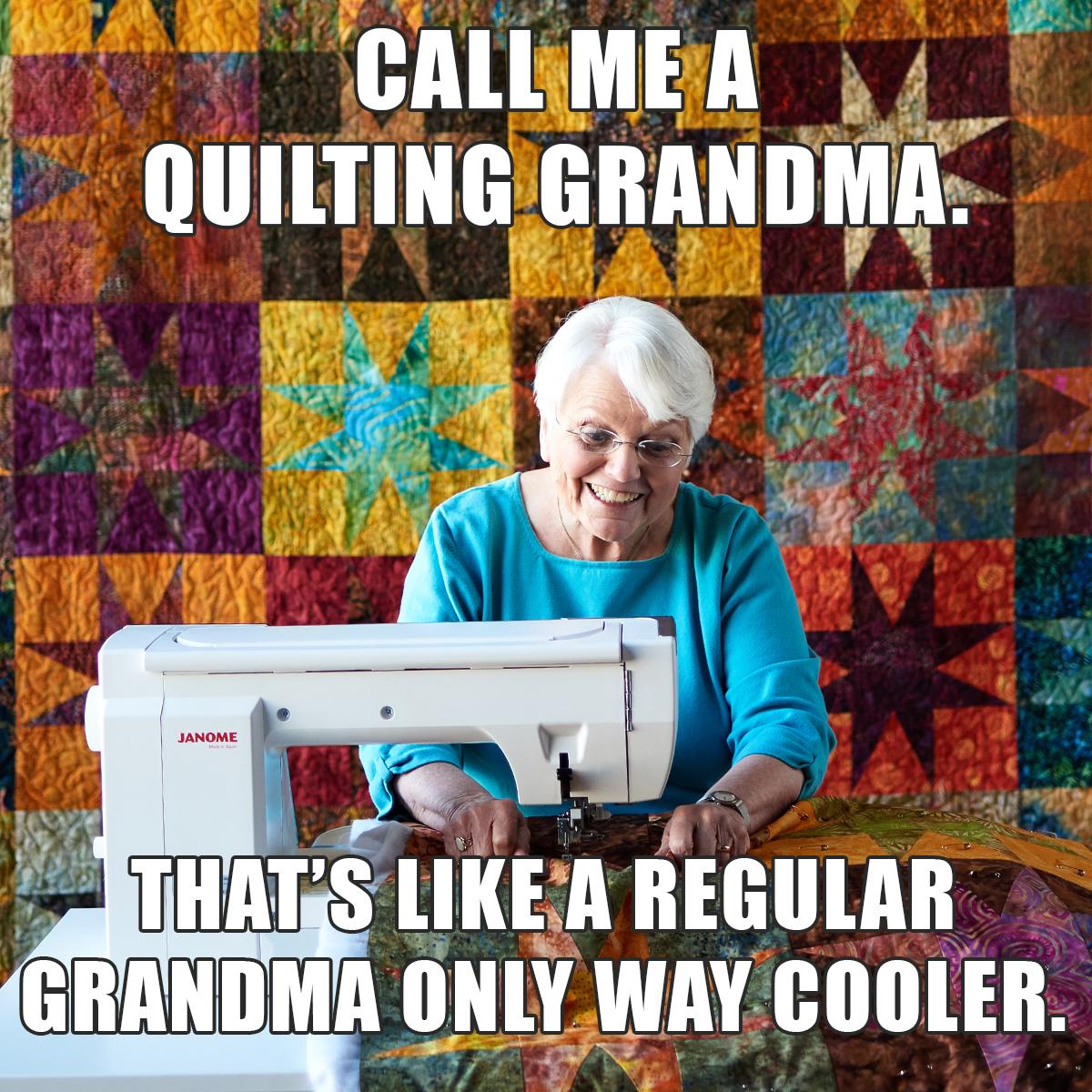 Quilting Grandma