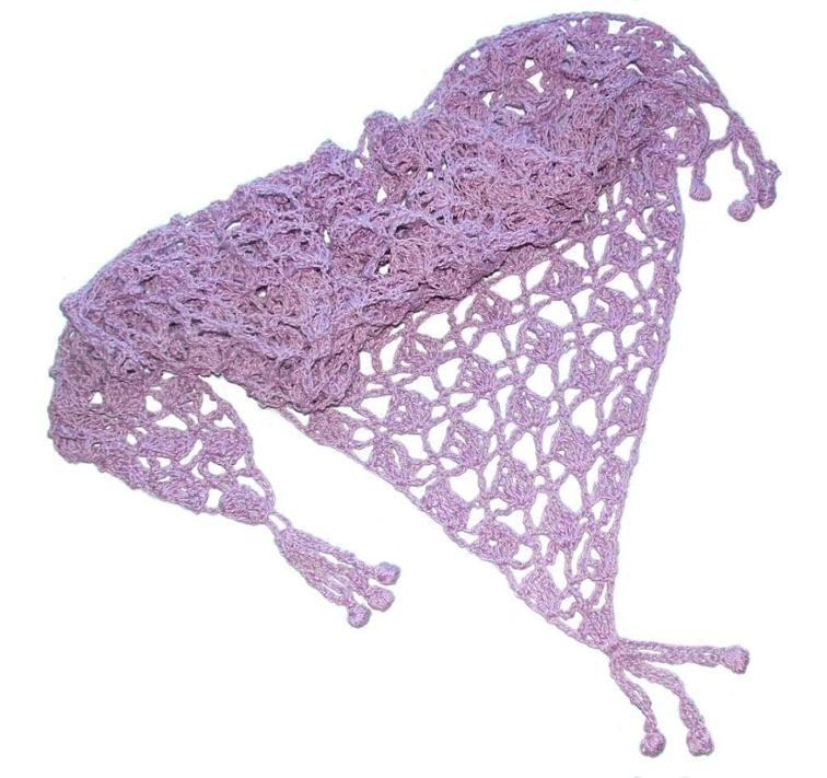 crochet fan lace shawl
