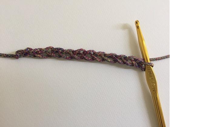 chain 12 for crochet granny rectangle