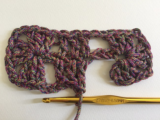 crochet granny rectangle step 4