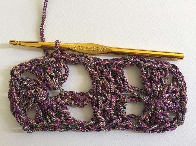 crochet granny rectangle step 5