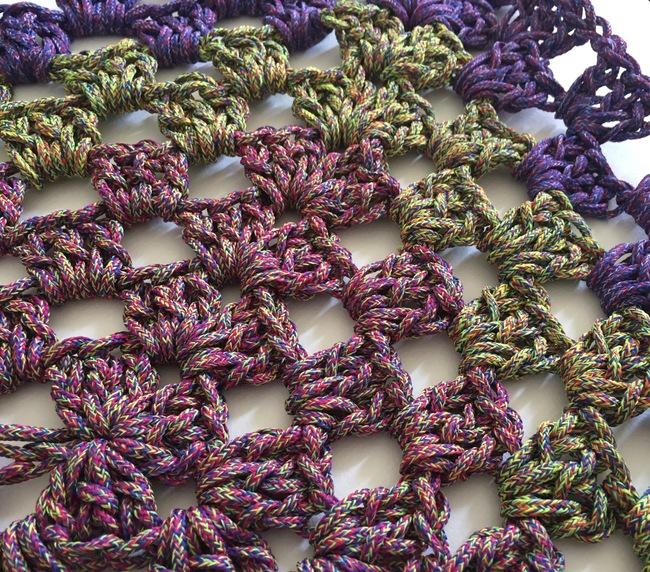 crochet granny rectangle detail