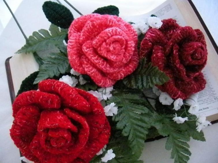 crochet roses pattern