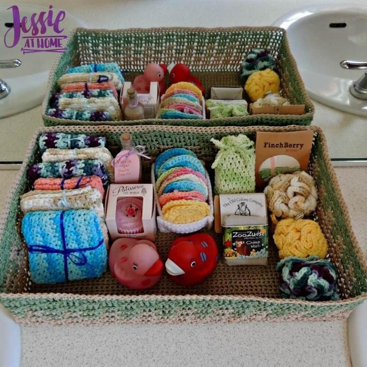crochet spa basket pattern